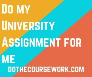 Do my University Assignment for me